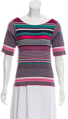 Louis Vuitton Striped Wool-Blend Top