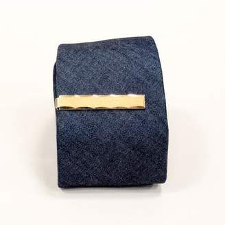 Blade + Blue Vintage Gold Tone Tie Clip by Anson
