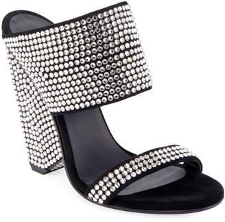 Balmain Lory Crystal-Embellished Sandals
