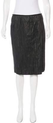 Edun Leather Knee-Length Skirt