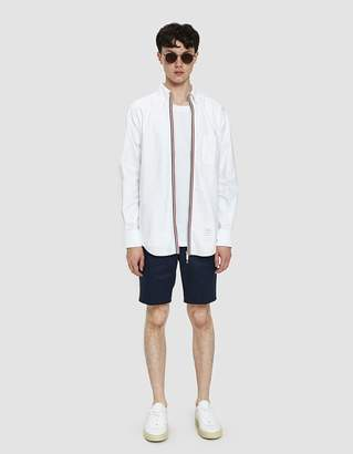 Thom Browne Cotton Twill Chino Short in Navy