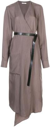 Tibi Walden wrap midi dress