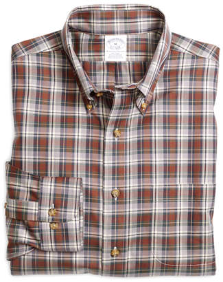 Brooks Brothers Non-Iron Slim Fit Plaid Sport Shirt