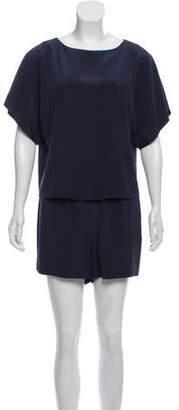 Tibi Oversize Short Sleeve Romper