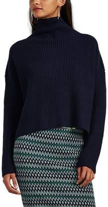 A.L.C. Women's Ribbed Wool Mock-Turtleneck Sweater - Navy