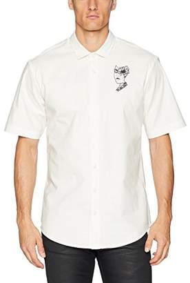 Publish Brand INC. Men's Gilbert-Slubbed Stretch Button up Woven Shirt