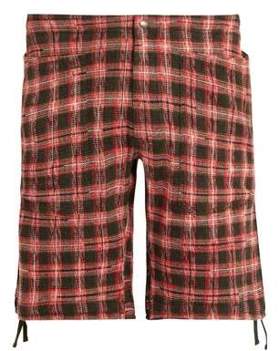 Missoni Checked-knitted cotton-blend cargo shorts