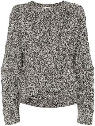 Alexander McQueen zip-sleeve chunky sweater