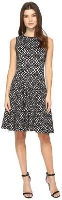 Calvin Klein Laser Cut Flare Dress Women's Dress
