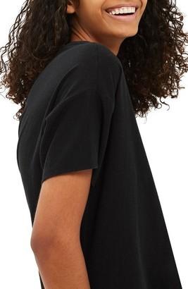 Women's Topshop Nibbled Scoop Neck Tee $25 thestylecure.com