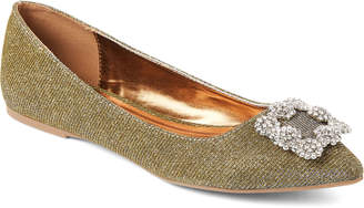 Pippa Wild Diva Lounge Gold Glitter Pointed Toe Flats