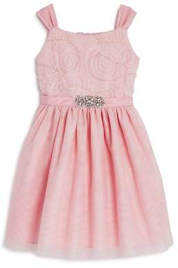 Us Angels Girls' Embellished Mesh Tutu Dress - Little Kid