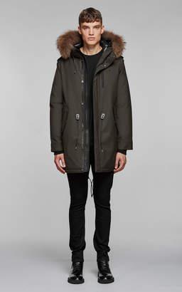 Mackage Moritz-D Flannel Parka With Fur Lined Hood