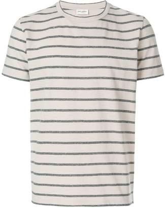 Saint Laurent horizontal short sleeve T-shirt