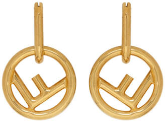 2055a90832d4 Fendi Gold F is Hoop Earrings