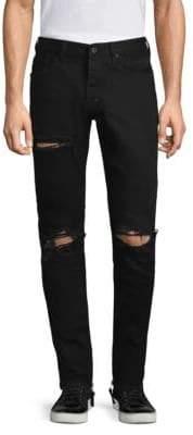 PRPS Windsor Distressed Black Skinny Jeans