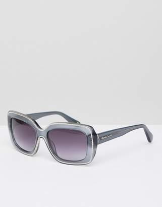 Christian Lacroix Christian La Croix square sunglasses in gray