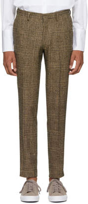 Tiger of Sweden Tan Houndstooth Matte Trousers