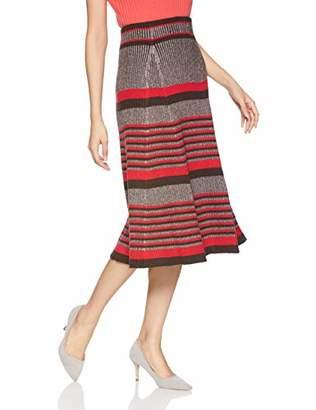 Snidel (スナイデル) - [スナイデル] プリーツロングニットスカート SWNS184159 レディース RED 日本 F (FREE サイズ)