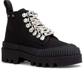Proenza Schouler Black canvas hiking boots
