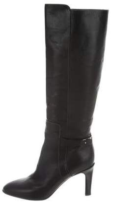 2014 new Chloé Metal-Trimmed Leather Knee-High Boots cost cheap online sale official find great cheap price CsPGZx