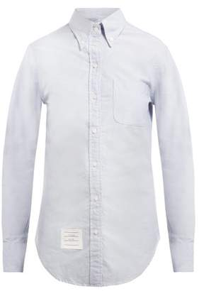 Thom Browne Single Cuff Cotton Oxford Shirt - Womens - Light Blue