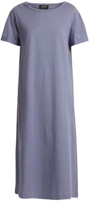 A.P.C. Lala striped cotton-jersey T-shirt dress