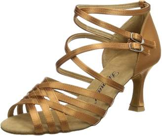 "Camilla And Marc Diamant Womens 108-087-379, Satin, 2 1/2"" (6.5 cm) Latin Heel, American 7.5M / UK 5"