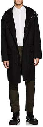 Valentino MEN'S WOOL-CASHMERE MELTON HOODED DUFFLE COAT