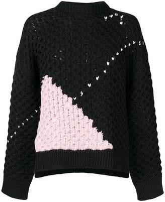 Raf Simons argyle chunky knit jumper
