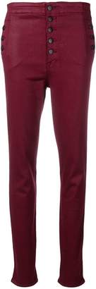 J Brand multi buttons skinny trousers