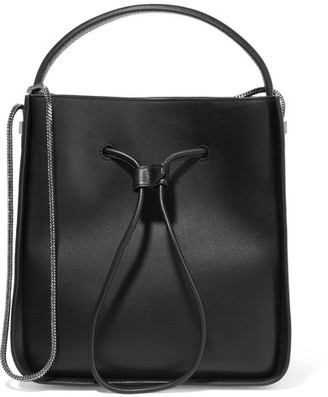 3.1 Phillip Lim - Soleil Small Textured-leather Bucket Bag - Black $895 thestylecure.com