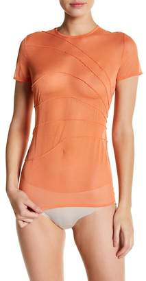 Wolford Mesh Pintuck Pleat Tee
