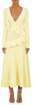 Cédric Charlier WOMEN'S RUFFLED COMPACT-KNIT GOWN