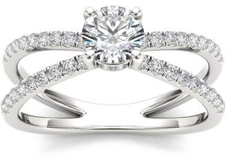 Imperial Diamond Imperial 7/8 Carat T.W. Diamond Split Shank Classic 14kt White Gold Engagement Ring