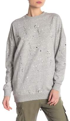 Superdry Edgy Nibbled Crew Neck Sweatshirt