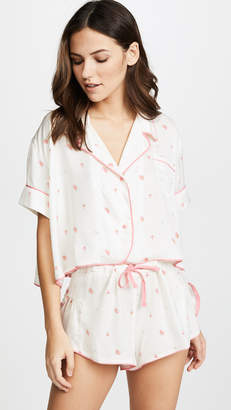 Wildfox Couture Rosebud Wallpaper Fell For You PJ Top