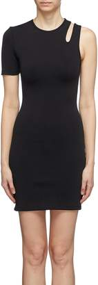 alexanderwang.t Asymmetric cutout shoulder dress