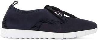 Jimmy Choo Jenson Low Top Suede Trainers - Mens - Navy