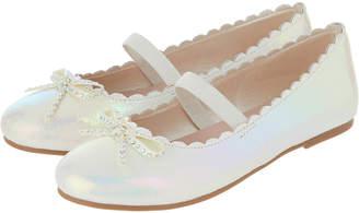 Accessorize Diamante Bow Ballet Pumps