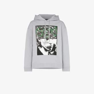 Raf Simons clubber graphic print hoodie