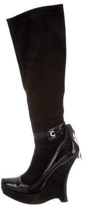 Cesare Paciotti Knee-High Wedge Boots
