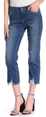 Skinny Girl Jeans Destroyed Straight Leg Crop Jeans