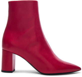 Saint Laurent Leather Betty Heeled Ankle Boots