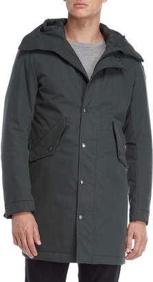 Blauer Faux Fur Lined Hooded Trench Coat
