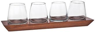 Godinger Set Of 4 Magnus Dof Glasses