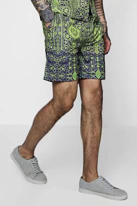 boohoo Chain Print Mid Length Shorts