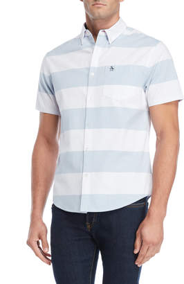 Original Penguin Striped Heritage Silm Fit Button-Down Shirt