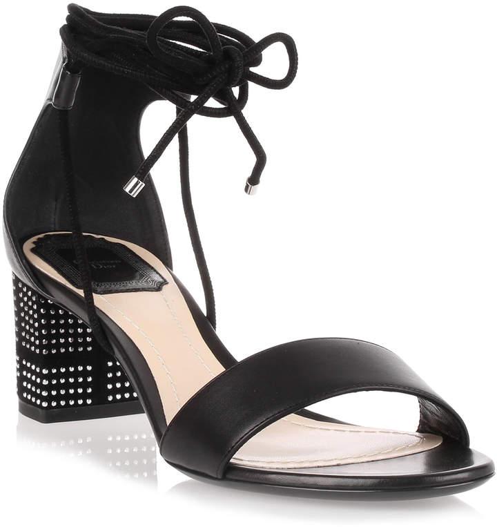 Dior Stellar 55 black leather sandal