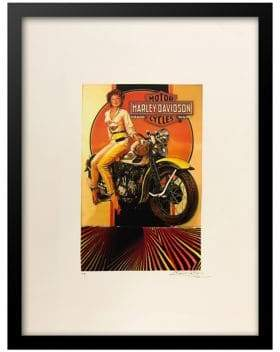 Harley-Davidson Luxe West Vintage Ad Print